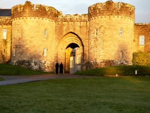 Ice Irealand glenstal abbey light background castle