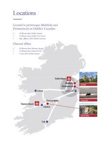 Location of Irish College of English Map