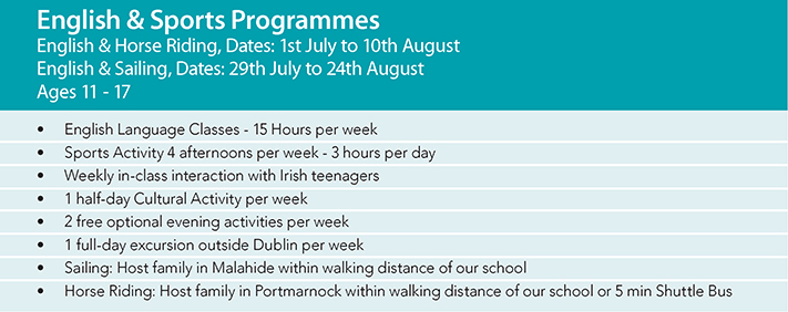 Junior English Summer Camp Ireland