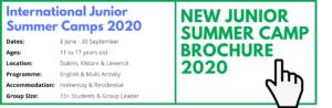 Header Website SUMMER CAMP Groups Dates Ireland Junior Summer Camp