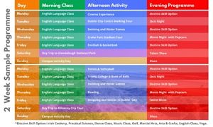 Timetable-Clongowes-Wood-Junior-Summer-Camp