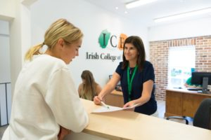 Reception Irish College of English