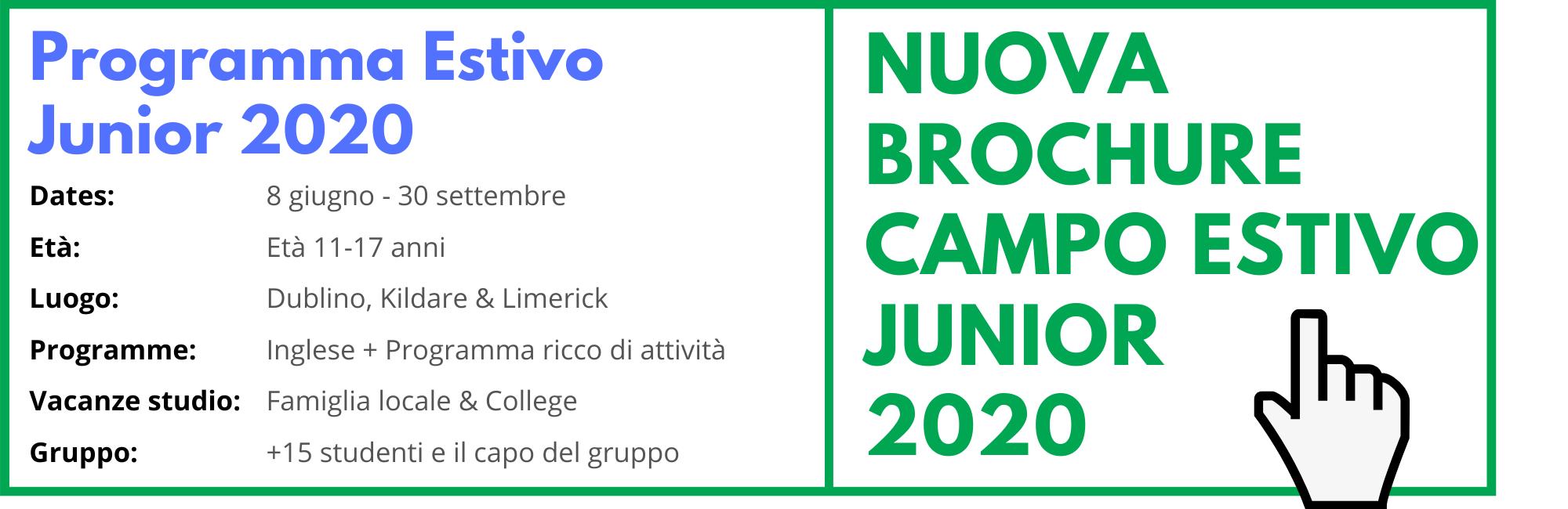 Programma Estivo Junior 2020